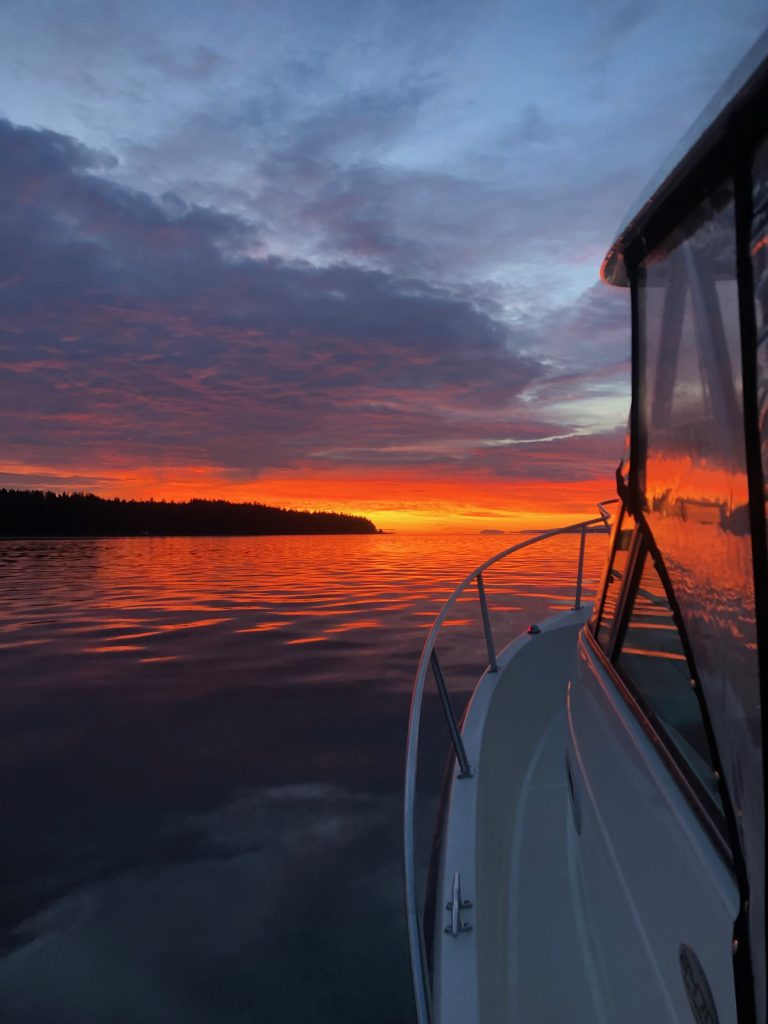 Sunrise Salmon Fishing In Campbell River
